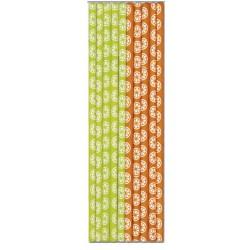 Pajtas de papel naranjas y verdes