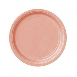 Platos de color rosa claro de 18 cm