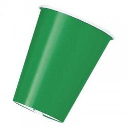 Vasos de color verde