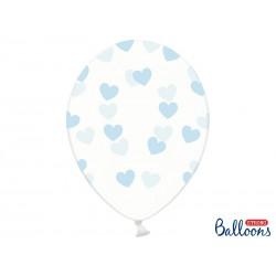 Globos con corazones azul claro