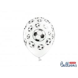 Globos impresos balón de Futbol (blanco / negro)