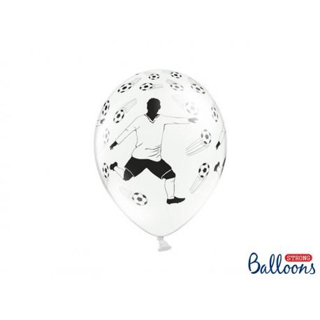 Globos impresos balones y jugador de Futbol (blanco / negro)