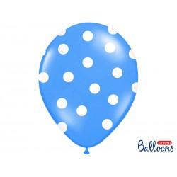 Globos azules con lunares blancos