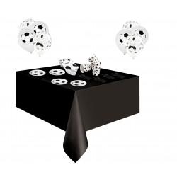 Pack especial futbol negro y blanco