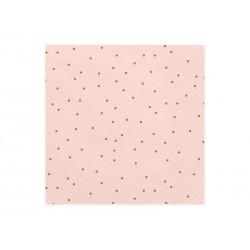 Servilletas rosa claro con puntos dorados