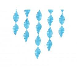 Guirnalda de papel crepe de flecos color azul