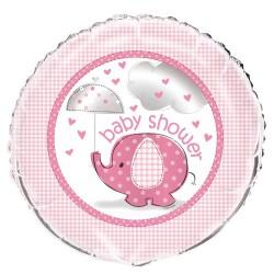 Globo foil de Elefante con sombrilla rosa