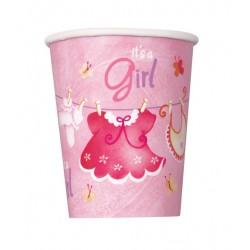 Vasos de ropa de bebe rosa
