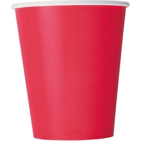 Vasos de color rojo