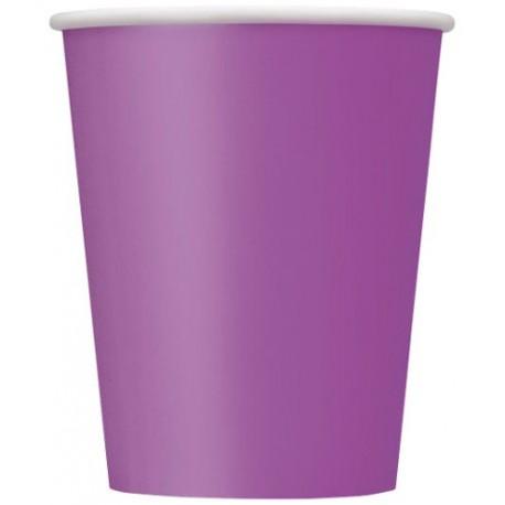 Vasos de color violeta
