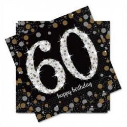 Servilletas de cumpleaños 60