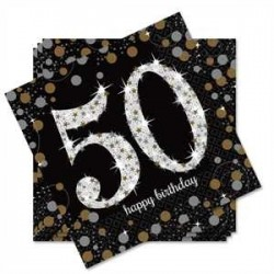 Servilletas de cumpleaños 50