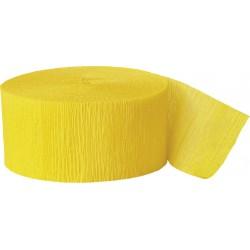 Cinta crepé amarillo fuerte