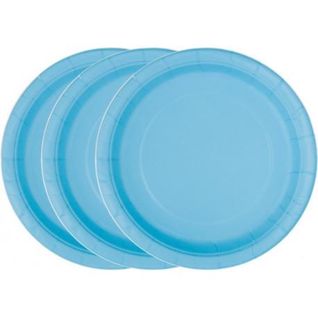 Platos de color azul pálido