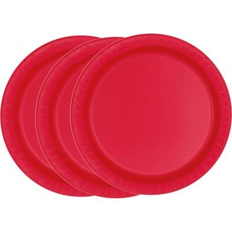 Platos de color rojo