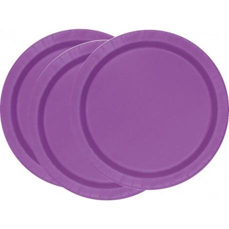 Platos de color violeta