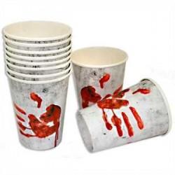 Vasos de Manos sangrientas