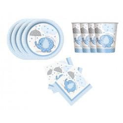 Mini pack Elefante con sombrilla azul para 8