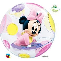 Globo burbuja de Minnie bebe