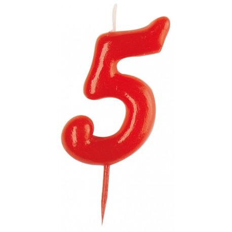 Vela roja número 5