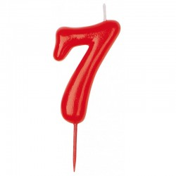 Vela roja número 7