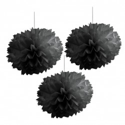 Pompones de color negro