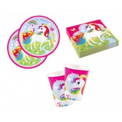 Pack mini de unicornio arcoiris para 8