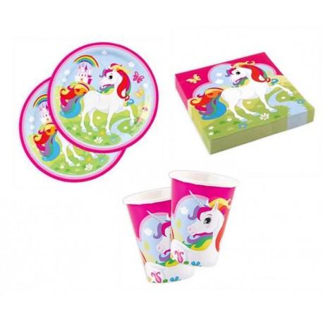 Platos de unicornio arcoiris