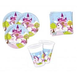 Paack mini de unicornio con castillo para 8