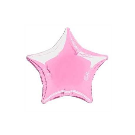 Globo estrella rosa