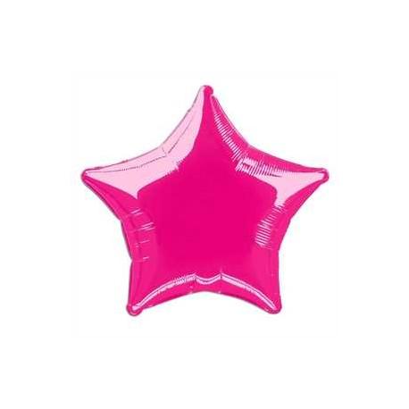 Globo estrella rosa fuerte