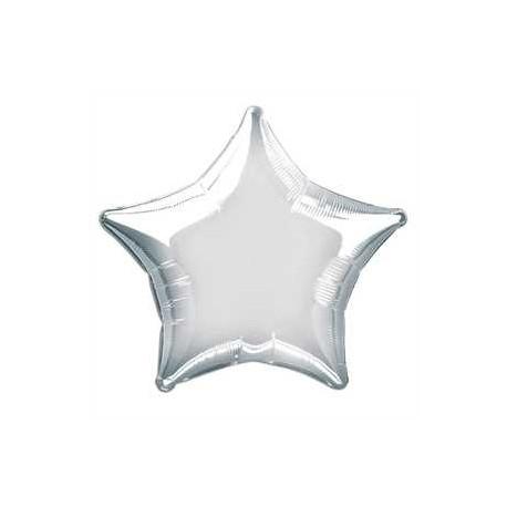Globo estrella plata