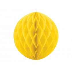 Bola de nido de abeja de color amarillo