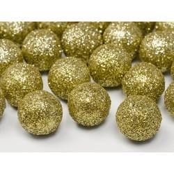 Bolas para mesa de color dorado