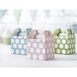 6 Cajas decorativas para dulces de tonos pastel