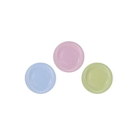 Platos de tonos pastel