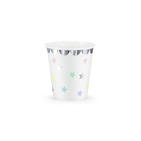 Vasos de estrellas de tonos pastel