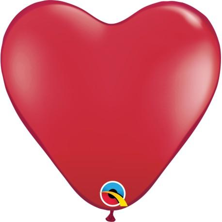 10 Globos de Corazón Rojo (de 15 cm aprox.)