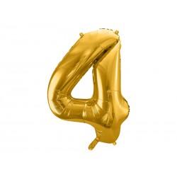 Globo dorado de foil número 4