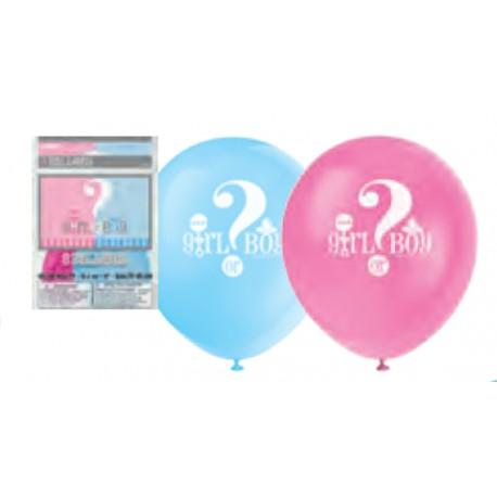 Mini pack Revela el género de tu bebe para 8